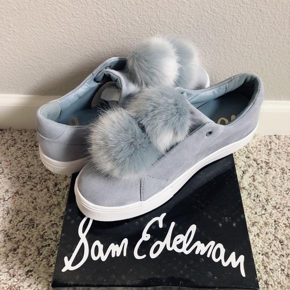 311a027a536456 Sam Edelman Leya Faux Fur Laceless Sneaker Slip On. NWT